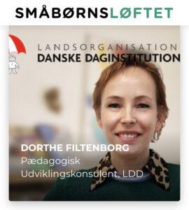 Repræsentant for LDD i partnerskab med DEA samt i SMÅBØRNSLØFTET