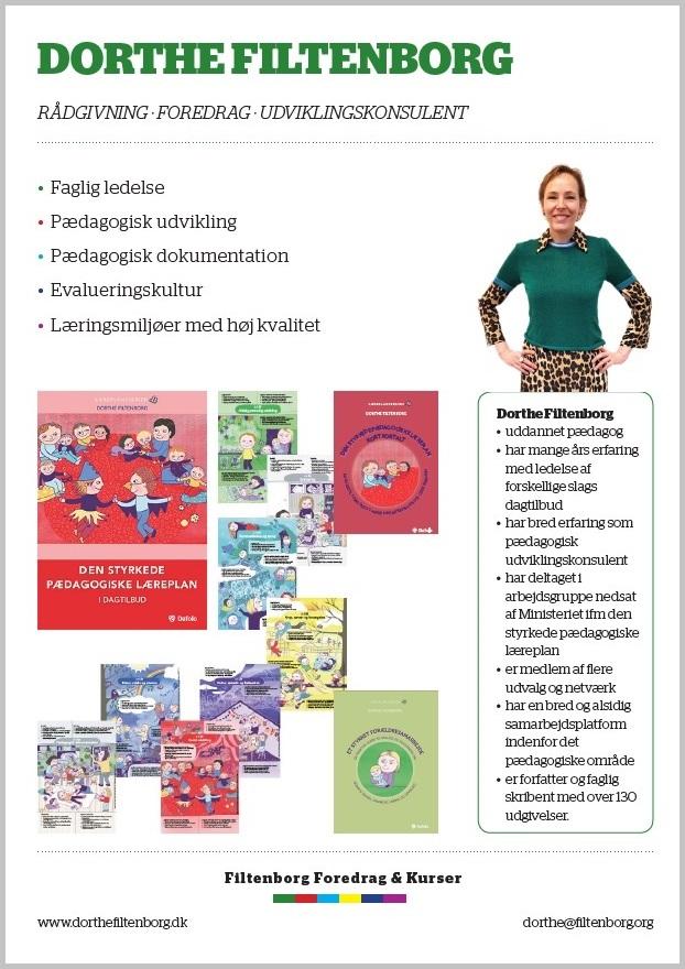 Filtenborg Foredrag & Kurser v. Dorthe Filtenborg - flyer som PDF-fil